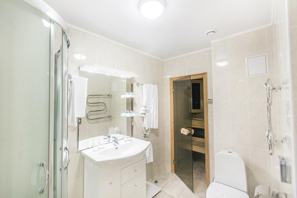 Ванная комната с сауной